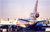 DC-10, retired from American Airlines fleet at gate
