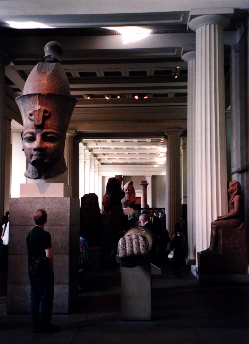 The Egyptian sculpture galleries