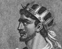 "A sketch of Attila the Hun, probably from the  , depicts him as European, though the only extant description of his appearance names ""a flat nose and swarthy complexion"" among his features."