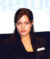 Angelina Jolie at the 2003 World Refugee Day. U.S. State Department photo.