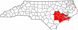 Counties within the North Carolina Region P Council of Governments