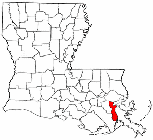 Image:Map of Louisiana highlighting Jefferson Parish.png