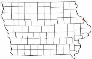 Location of Dubuque, Iowa