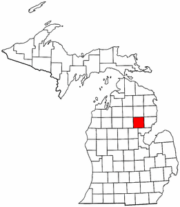 Image:Map of Michigan highlighting Ogemaw County.png