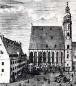 The St. Thomas church in Leipzig