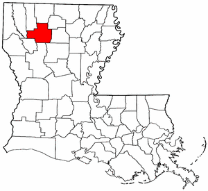 Image:Map of Louisiana highlighting Bienville Parish.png