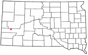 Location of Rapid City, South Dakota
