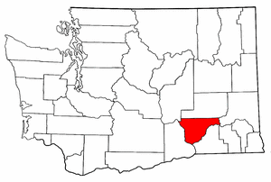 Image:Map of Washington highlighting Franklin County.png