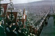 NSDAP flags at the  Nazi Party rally in