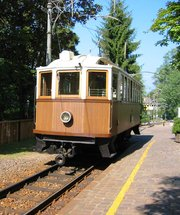 An historic tram from  still running in , , .