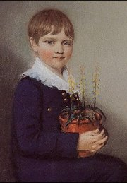 A seven-year old Charles Darwin in 1816