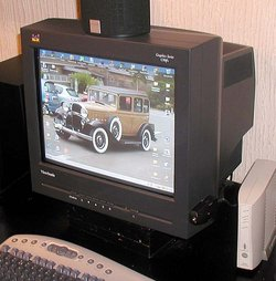 Nineteen inch (48 cm) CRT computer monitor
