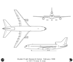 Orthographic diagrams of L-1011 exterior