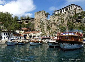 Antalya's historical yacht harbour