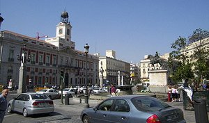 The Puerta del Sol square, in the heart of the city