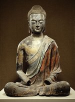 Seated Buddha (Tang dynasty ca. 650 China)