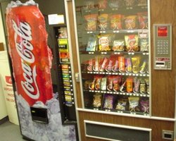 Soda pop and snack machines