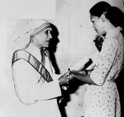 Mother Teresa with , wife of