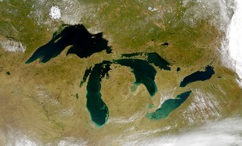 The Great Lakes from space