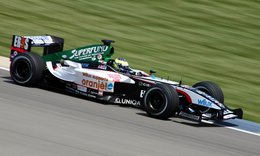 driving for the Minardi Formula One team at the 2004