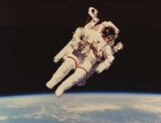Astronaut Bruce McCandless on an untethered EVA