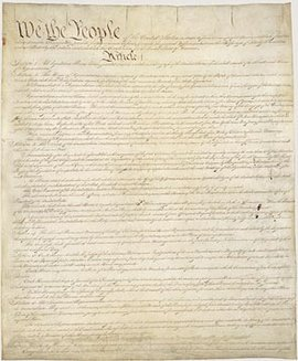Page I of the Constitution of the