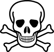The  symbol traditionally used to label a poisonous substance.