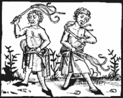 Flagellants practiced self-flogging to atone for sins. The movement became popular after general disillusionment with the church's reaction to the Black Death.