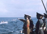 and Regent Horthy of Hungary observing Kriegsmarine U-Boat maneuvers in 1938