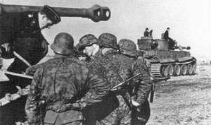 "Waffen-SS Panzergrenadiers of the 3rd SS-Panzer-Division ""Totenkopf"" at the start of the"