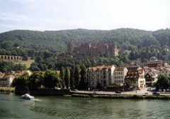 "View from the so called ""alley of philosophers"" (Philosophenweg) towards the Old Town, with ,  and the"