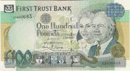A £100 First Trust Bank bill.