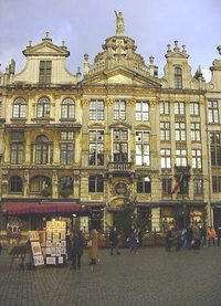 Old houses on Brussels' Grand Place