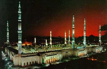 in . The mosque now contains the tombs of Muhammad and the first two ,  and