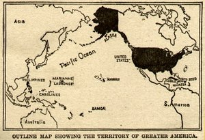 "Post-Spanish-American War map of ""Greater America"""