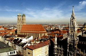 Munich: Frauenkirche and Town Hall steeple