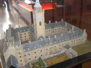 A model of the university's old High Street campus