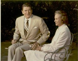 O'Connor with President Reagan at the White House in 1981 upon her nomination.