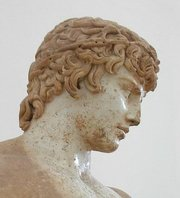 Bust of Antinous in the museum at