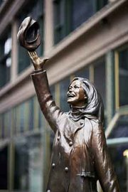 Statue of Mary Tyler Moore in downtown Minneapolis