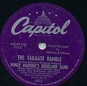 Capitol record by Wingy Manone