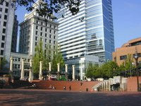 Pioneer Courthouse Square.