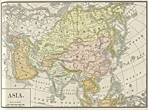 Map of Asia, 1892