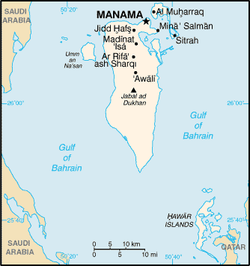 Map of Bahrain.