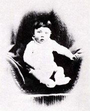 Adolf Hitler as an infant.