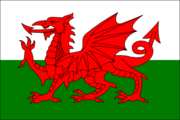 The Welsh Dragon depicted on the .