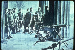 Revolutionaries at machine-gun posts, Berlin, November 1918