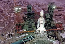 Buran-Energia on the pad