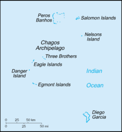 Location of British Indian Ocean Territory