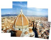 Combination pic of the view from the tower looking towards the Duomo